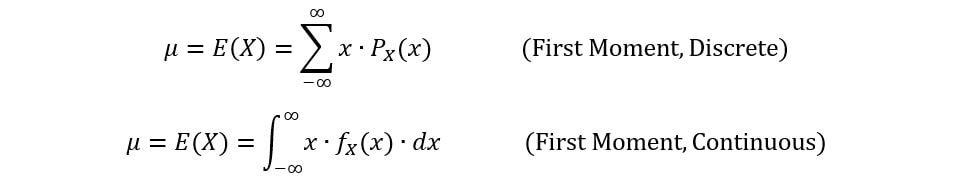 Moment Generating functions first moment