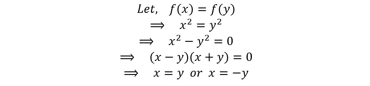 injective function have one output for one input