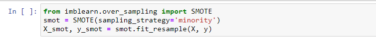 Over Sampling minority class using Synthetic Minority Oversampling Technique (SMOTE)   feature engineering