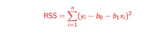 Residual Sum of Squares   Linear regression